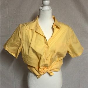 VINTAGE YELLOW TOE FRONT TOP